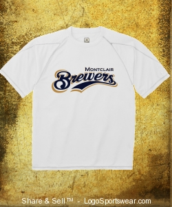 Brewers Logo Large Performance T Design Zoom